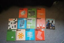 Job Lot 12 1971 WHICH Magazine Consumer Association Cola Drinks Tax Saving Guide