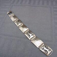 schönes altes Armband versilbert Hammerschlag ca.30er Jahre