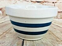 """Vintage R R P Co Robinson Ransbottom Pottery Bowl 6"""" Made in USA pottery"""