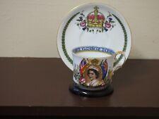 Aynsley 1953 Queen Elizabeth II Coronation Cup & Sauce