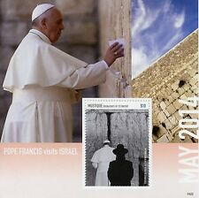 Mustique Grenadines St Vincent 2014 MNH Pope Francis Visits Israel 1v S/S Popes