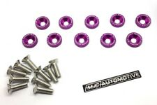 MJC Purple Fender Washers M6 With SS Bolts - Toyota Starlet Glanza 1.3 Turbo JDM