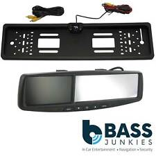 """4.3"""" Rear View Reversing Screen Mirror Monitor & Car Number Plate Colour Camera"""