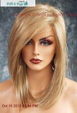 """LAINE"" RENE OF PARIS WIG *CREAMY TOFFEE* SLINKY HOT MEDIUM BOB SIDE BANGS 524"