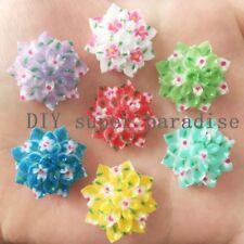 New 30PCS 20mm Resin flower Flatback stone Embellishment DIY wedding buttons