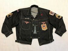 Vietnam Veteran Braxton Denim Jean Jacket with Patches Mens Size Large sww1