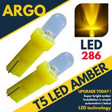 Super Bright T5 286 Led Xenon Amber Dashboard Bulbs Speedo Wedge Bulb Lights 12v