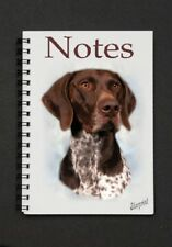 German Shorthaired Pointer Dog Notebook/Notepad with small image on every page