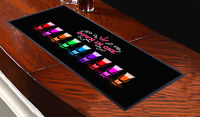 Down In One Shots Design Bar Towel Runner Pub Mat Beer Cocktail Party Gift