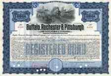1937 Buffalo Rochester & Pittsburgh RW Bond Certificate