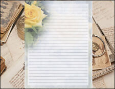 Classical Flower Design Lined Stationery Writing Set, 25 sheets & 10 envelopes