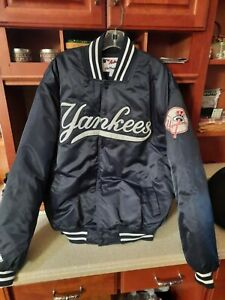 Majestic NY Yankees nylon Bomber Style Jacket Mens XL. NEW