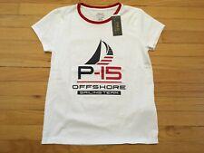 $50 POLO RALPH LAUREN NWT Women's White P15 Sailing Team SS Tee Shirt Size M