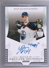 "11-12 Panini Rookie Private Signings Ryan Nugent-Hopkins ""Hoppy"" Auto Autograph"