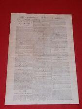 JOURNAL GAZETTE NATIONALE OU LE MONITEUR UNIVERSEL N° 291 MERC 17 OCTOBRE 1792