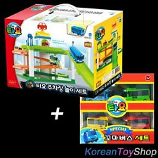 The Little Bus TAYO Parking Garage Service Center Play Set Toy w/ 4 pcs Buses