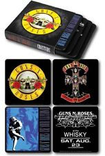 GUNS N ROSES COASTERS 4-PACK NEW Appetite For Destruction Use Your Illusion Logo
