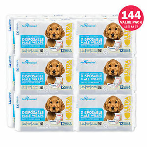 Paw Inspired Disposable Male Dog Diapers Belly Bands Belly Wraps - XS, S, M, L