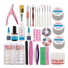 Professional Nail Art Uv Gel Top Coat Brush Glue Cutter File Nail Separator Kit