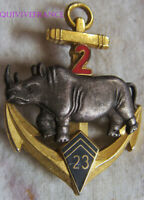 IN16355 - INSIGNE 23° Bataillon d'Infanterie de Marine, 2° Escadron, matriculé