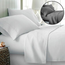 King Size Egyptian Comfort Hotel Quality Soft 4 Piece Bed Sheet Sets,White Color