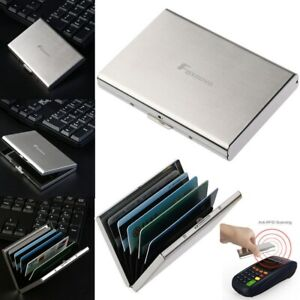 Etui carte bancaire Boite Porte Carte portefeuille rigide carte de crédit RFID