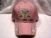 JESUS IS THE WAY TRUTH LIFE JOHN 14:6 BASEBALL CAP HAT ( PINK )