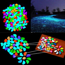 10×  Colorful Glow in The Dark Stones Pebbles Rock For Fish Tank Aquarium sale F