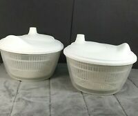 You Get 2! Give 1 Away! IKEA White Salad Spinner TOKIG Bowl / Serves Salad Too!