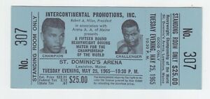 Muhammad Ali vs. Sonny Liston Full Ticket May 25, 1965 No. 307