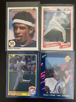 (4) Deion Sanders 1989 1990 Upper Deck Fleer Score Classic Rookie Card Lot