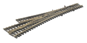 Peco SL-E399F Asymmetric 3 Way Point Electrofrog Code 55 rail N Gauge