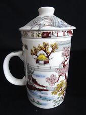 ASIA Teetasse 300 ml mit Deckel und Teesieb Becher Palast Geschenk