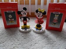 DISNEY SCHMID MICKEY AND MINNIE PORCELAIN HAND PAINTED FIGURINES