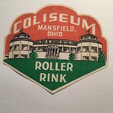 1941 Reproduction Silver Skate Roller Rink Fremont Ohio Aluminum Sign