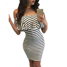 Women Bandage Bodycon Slim Off Shoulder Evening Party Cocktail Tight Mini Dress