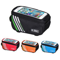 "Bicycle Cycling Bike Frame Front Tube Waterproof Portable Mobile Phone Bag 5"" US"