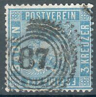 Baden Mi.-Nr.10o -87 Mannheim (MICHEL EURO 30,00) pracht