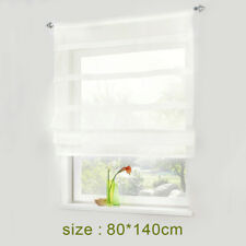 Pure Color Kitchen Bathroom Balcony Window Curtain Voile Liftable Roman Blinds