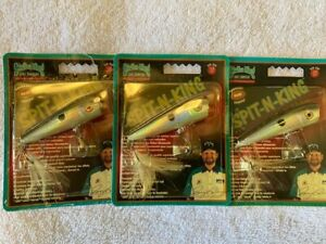 "3 New STRIKE KING Discontinued 2.5"" SPIT-N-KING Popper TOPWATER LURES Gizzard"