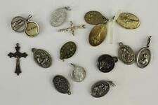 Vintage Lot Jewelry Catholic Saint Religious Pendant Necklace Bracelet Charms