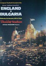 Programm LS 21.11.1979 England - Bulgarien