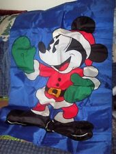 "NEW MICKEY & CO 28"" x 44"" SANTA MICKEY MICKEY MOUSE DECORATIVE FLAG IN / OUTDOOR"