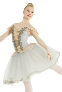 Dance Costume Small Adult Green Ballet Pointe YAGP Romantic Tutu Weissman 11657