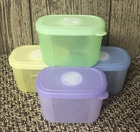 Tupperware Freeze Smart Freezer Containers Freshness Dials Green Blue Purple Yel