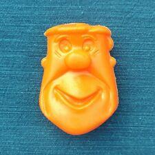 Vintage 1975 Pebbles Cereal Fred Flinstone Coin Holder, Orange