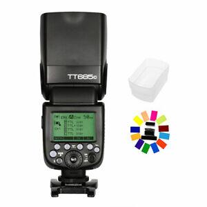 Godox TT685C 2.4G TTL HSS Blitz Blitzgerät für Canon + Blitzdiffusor