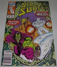 SILVER SURFER #47 (Vol 3) (1991) WARLOCK & DRAX app! RARE Newsstand Copy (FN/VF)