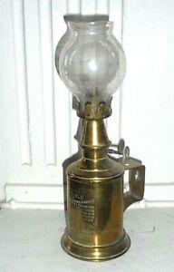 Belle Lampe PIGEON en Cuivre et Laiton Gravée Ancienne de décoration