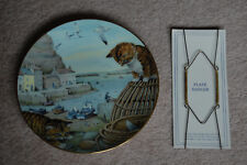 Peter Barrett All Creatures Great & Small January Fisherman's Harbour Plate 1987
